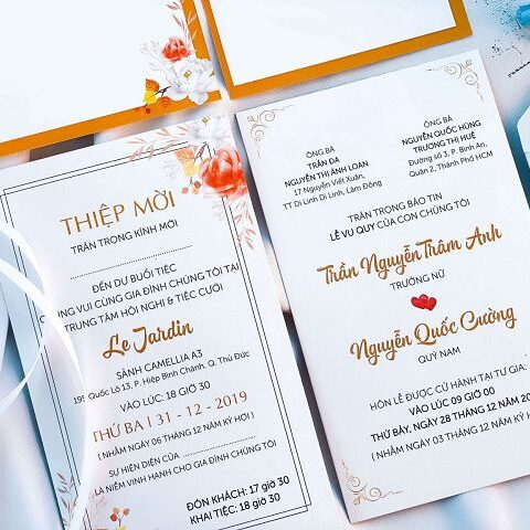 Dịch vụ in thiệp cưới giá rẻ tại Quận Phú Nhuận có gì đặc biệt?
