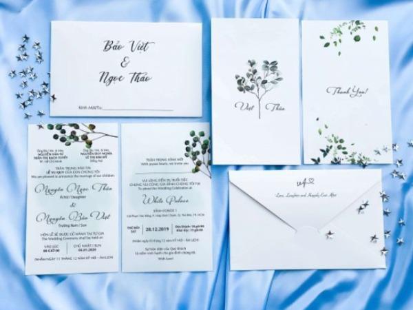Màu sắc in thiệp cưới giá rẻ tại Quận Bình Tân rất đa dạng