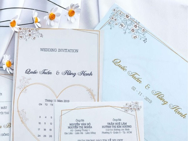 Bật mí dịch vụ in thiệp cưới giá rẻ tại Đà Lạt Lâm Đồng