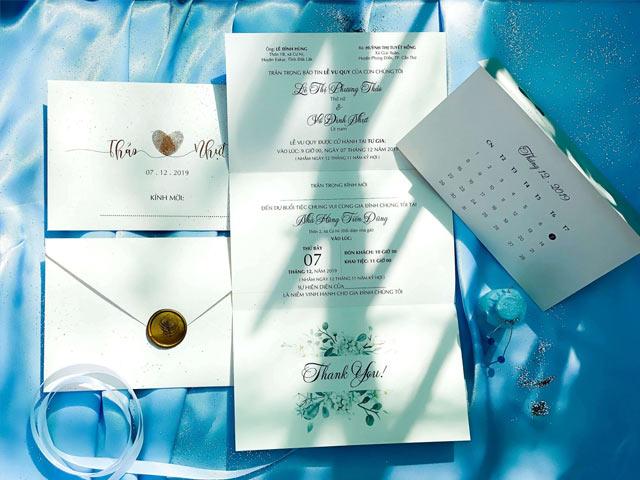 Các nội dung trong thiệp cưới