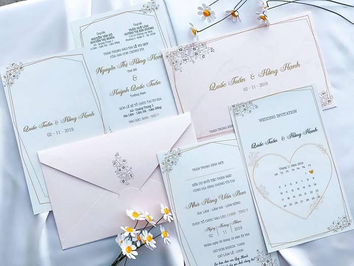 Cửa hàng thiệp cưới cần có những mẫu sáng tạo