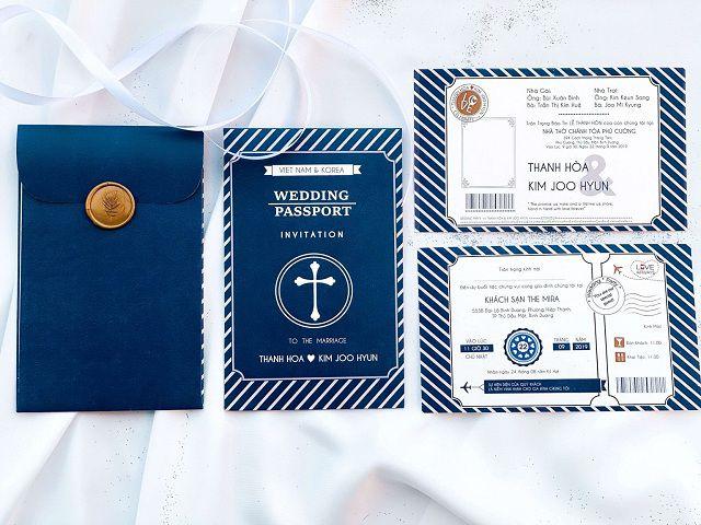 Thiệp cưới hình Passport là sự lựa chọn độc đáo khiến tiệc cưới của bạn trở nên ý nghĩa hơn