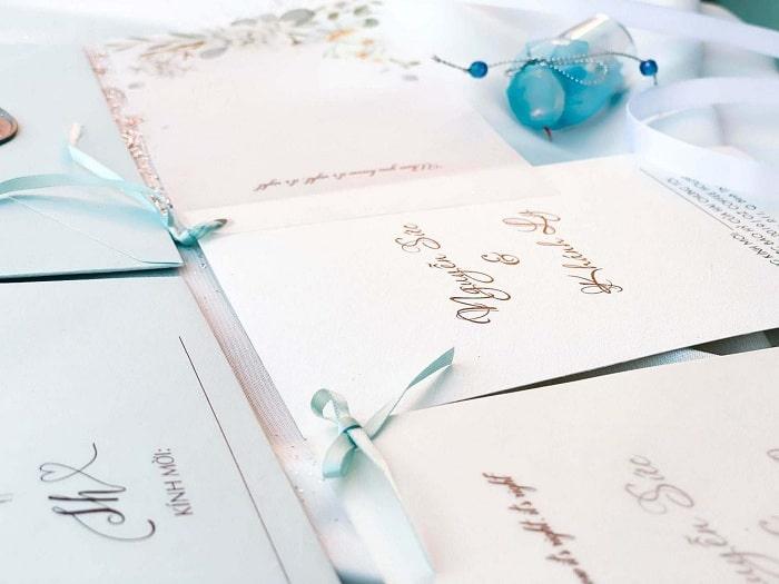 Xác định phong cách trước khi tự thiết kế thiệp cưới
