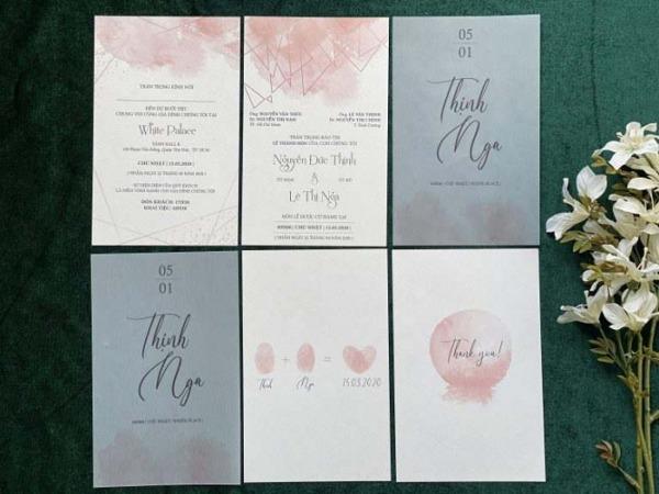 In thiệp cưới tự thiết kế mang ý nghĩa riêng