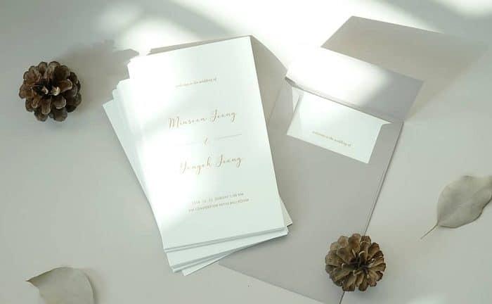 Thiệp cưới đơn giản giá rẻ: Sức hút đặc biệt từ nét đẹp tinh tế giản đơn