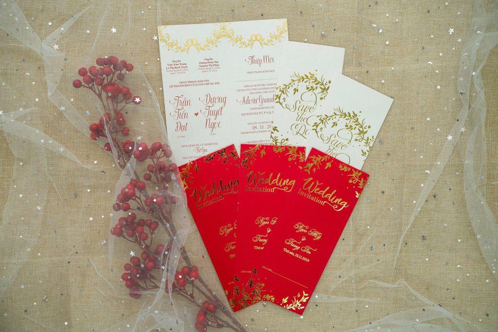 Mẫu thiệp cưới màu đỏ đẹp