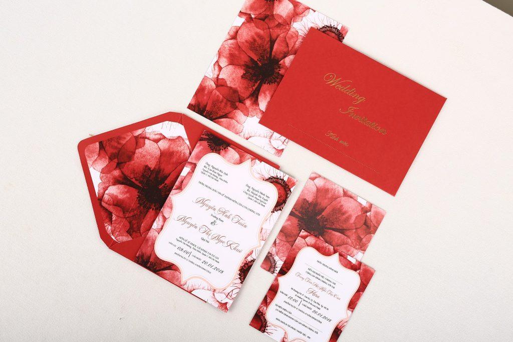 +50 MẫuThiệp cưới màu đỏ truyền thống mới nhất 2021