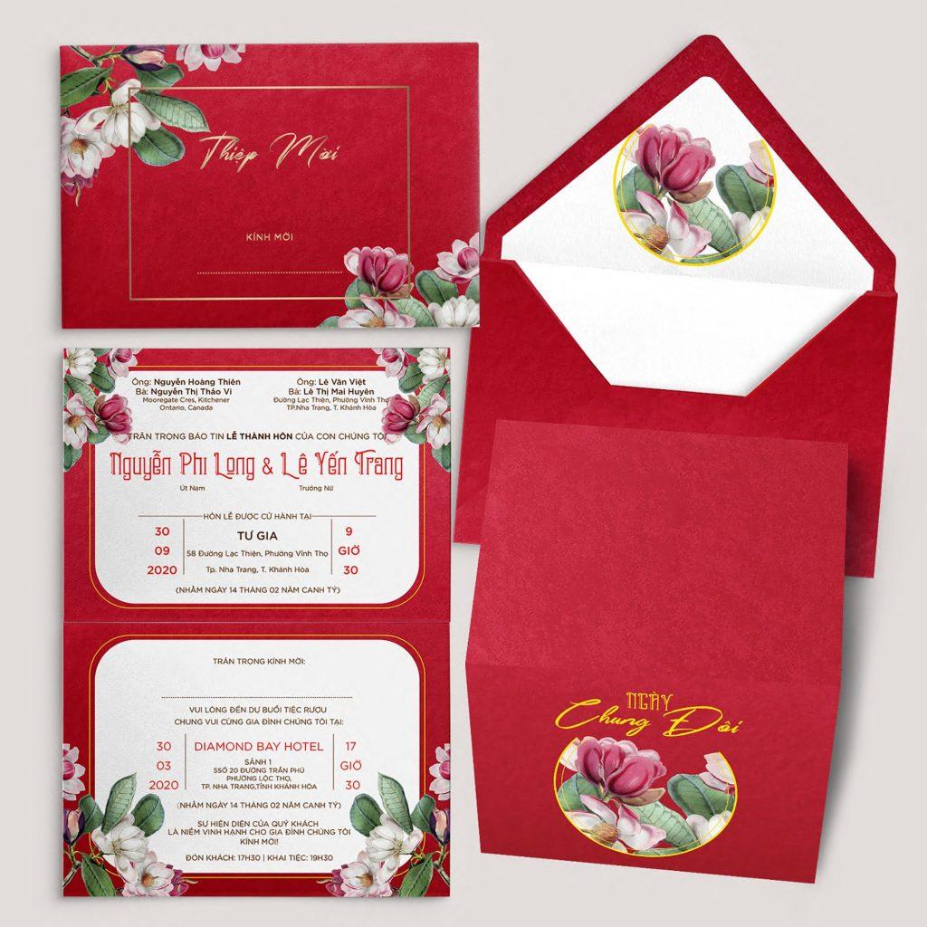 Giải đáp: Thiết kế thiệp cưới màu đỏ tươi có gì đặc biệt?
