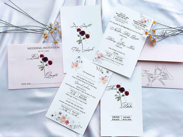 Thiệp cưới mang rất nhiều ý nghĩa khác nhau