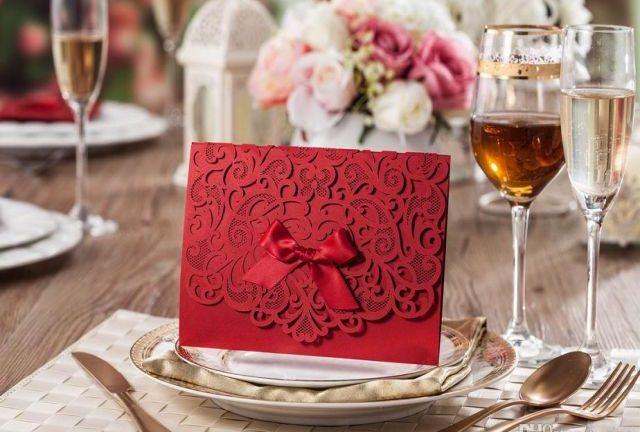 Thiệp cưới màu đỏ truyền thống cho ngày đại hỷ thêm ý nghĩa