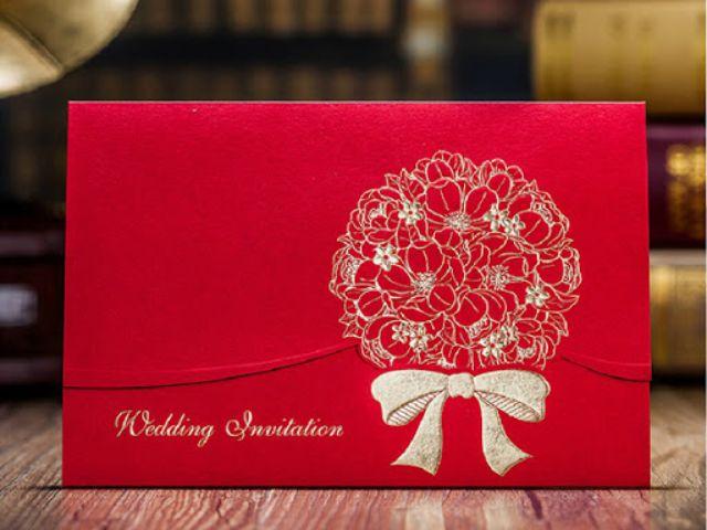 Thiệp cưới màu đỏ mang nhiều ý nghĩa