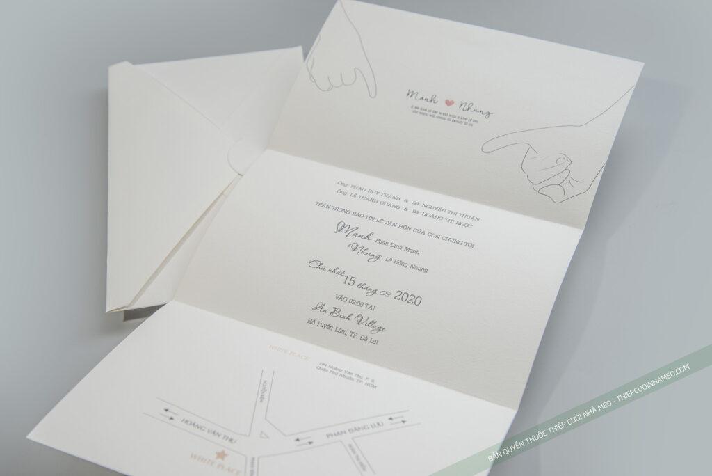Mẫu thiệp cưới hiện đại đơn giản cao cấp mèo 12