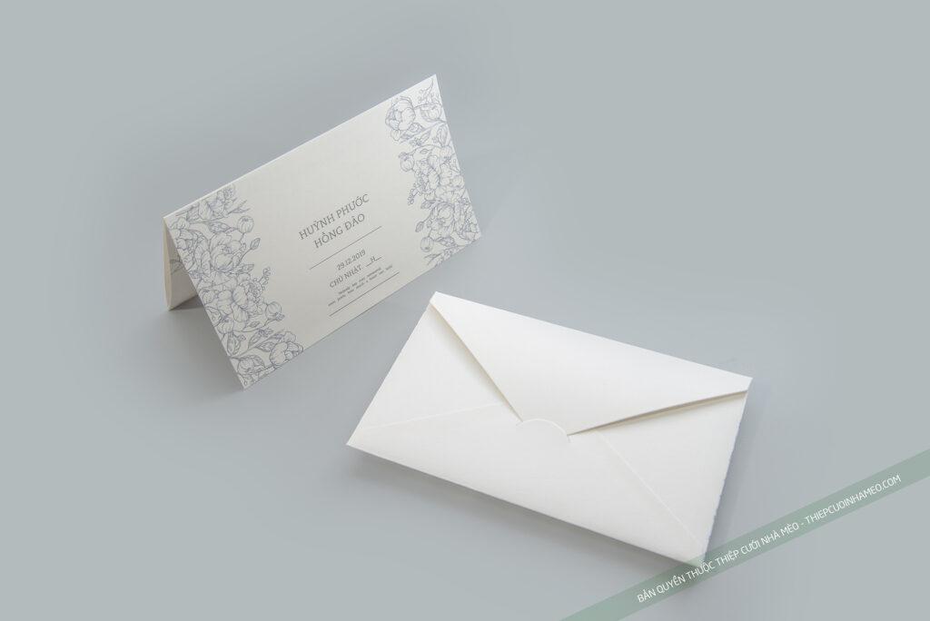 Mẫu thiệp cưới hiện đại cao cấp đơn giản hàn quốc mèo 15