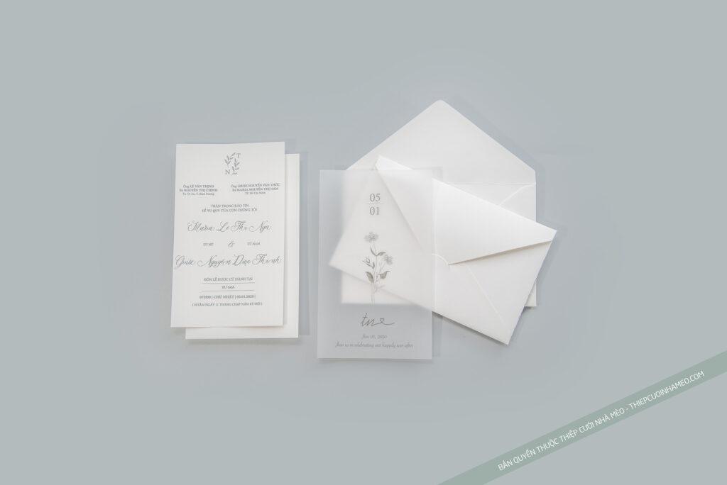 Mẫu thiệp cưới đơn giản hiện đại cao cấp hàn quốc mèo 16