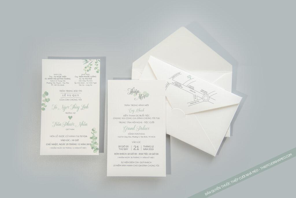 Mẫu thiệp cưới in sẵn hiện đại đơn giản cao cấp giá rẻ mèo 20