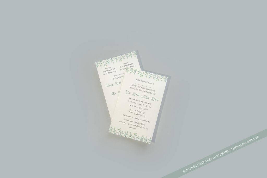 Mẫu thiệp cưới in sẵn đơn giản cao cấp đơn giản hiện đại giá rẻ mèo 21
