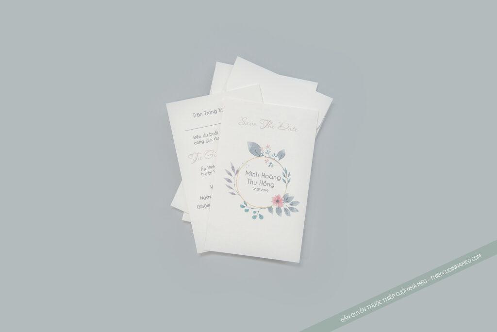 Mẫu thiệp cưới đơn giản hiện đại độc đáo hàn quốc giá rẻ cao cấp mẫu 22