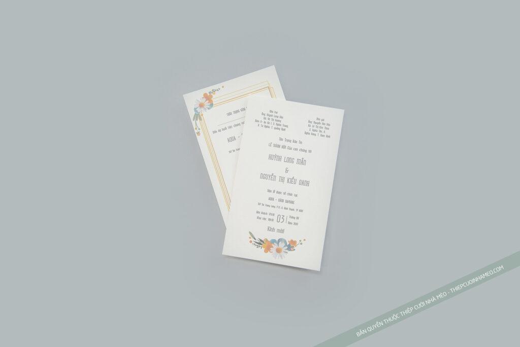 Mẫu thiệp cưới hiện đại sang trọng đơn giản cao cấp giá rẻ mèo 25