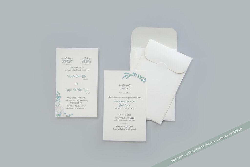 Mẫu thiệp cưới đơn giản hiện đại in sẵn cao cấp giá rẻ mèo 27
