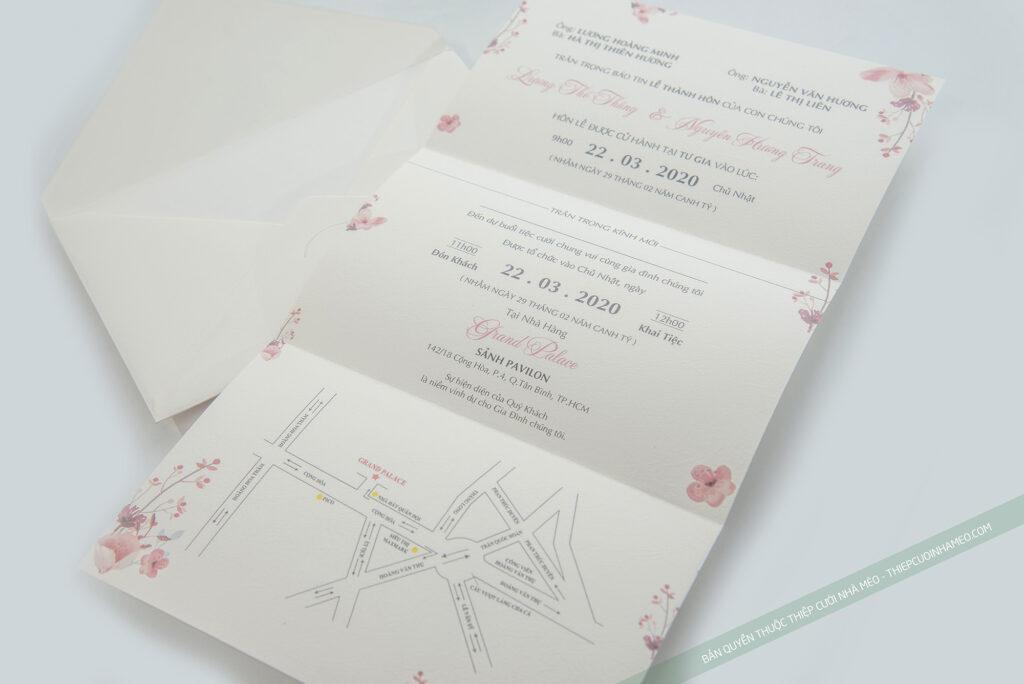 Mẫu thiệp cưới hiện đại sang trọng tinh tế giá rẻ in sẵn mèo 28