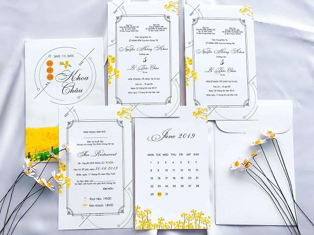 Thiệp cưới phong cách Hàn Quốc gây ấn tượng với vẻ trẻ trung, ngọt ngào