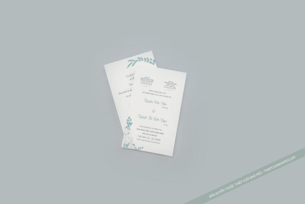 Thiệp đám cưới giá rẻ phù hợp với nhiều cặp đôi