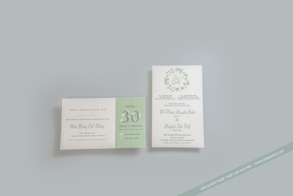 Thiệp mời cưới có đa dạng các loại kích thước