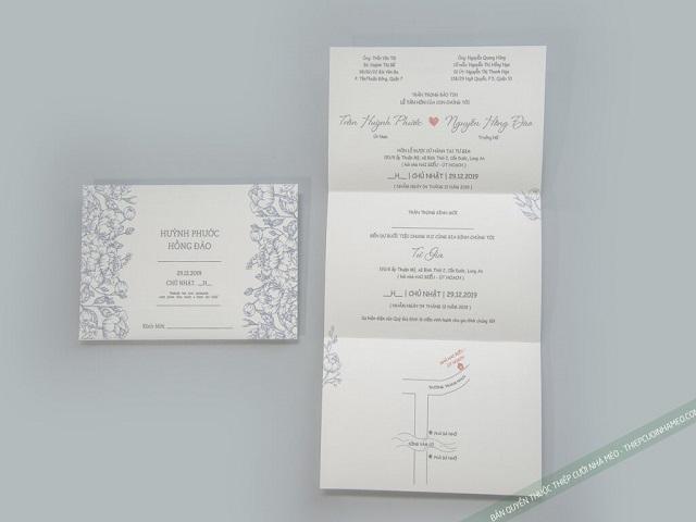 Thiệp cưới phong cách Hàn Quốc được rất nhiều cặp đôi lựa chọn