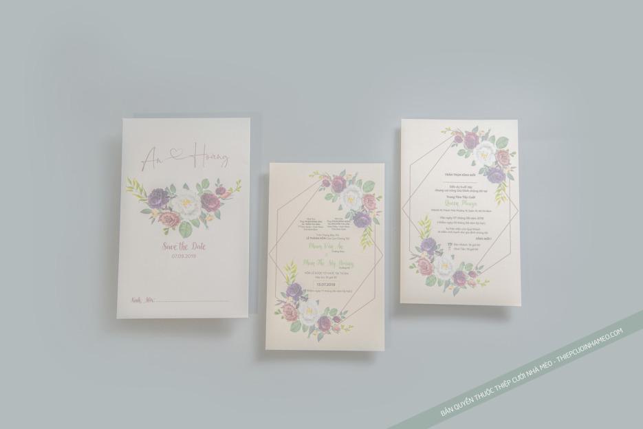 Thiết kế phôi thiệp mời cưới đơn giản