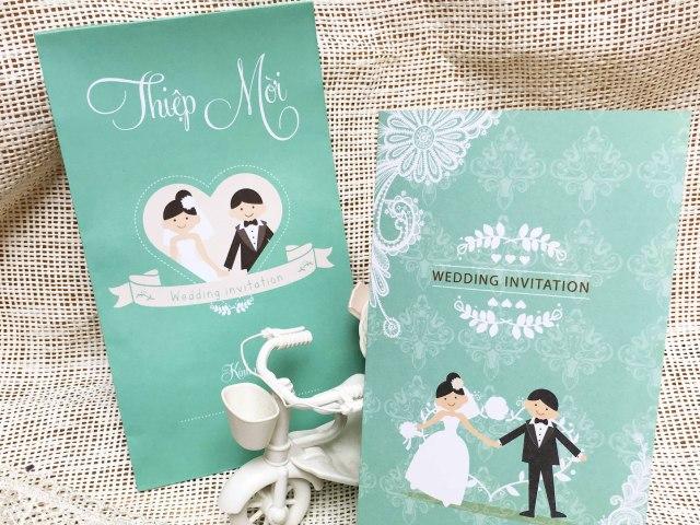 Top 10+ Mẫu thiệp cưới chibi siêu dễ thương cho mùa cưới