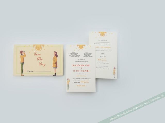 Vẻ đẹp tinh tế của mẫu thiệp cưới có hình chibi