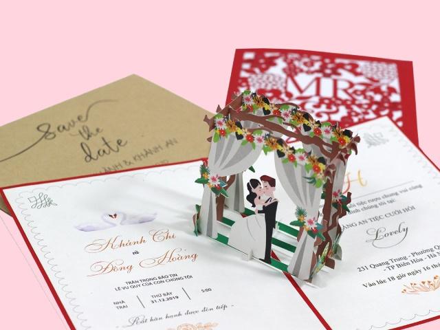 Top 20+ mẫu thiệp cưới 3D ấn tượng nhất năm nay