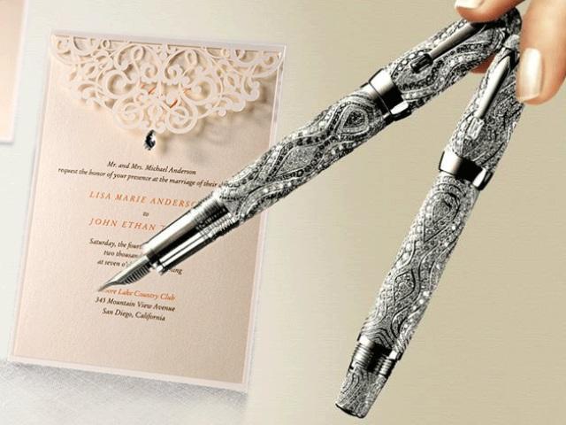 Thiệp cưới viết bằng tay luôn được các cặp đôi yêu thích