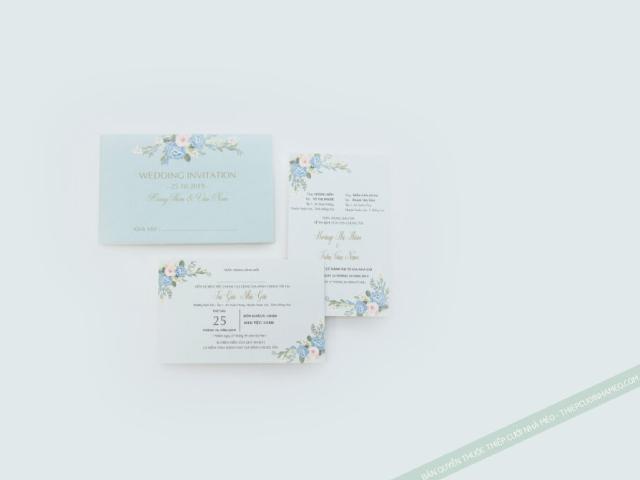 Thiệp cưới chữ nhật có mẫu mã rất đẹp mắt